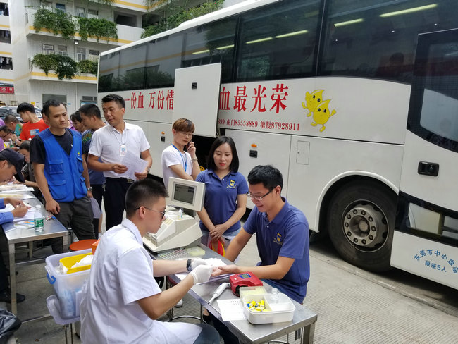 Mecable trade union organized non-remunerated blood donation activity
